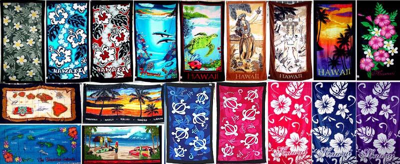 "Hawaiian EXTRA Large Beach Towel Sunset Surf Sun Aloha Hawaii Black 68/""x40/"" NIB"